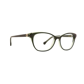 Trina Turk - Malin 53mm BlackGreen Eyeglasses / Demo Lenses