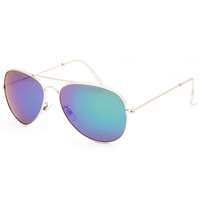 Blue Crown Mile High Aviator Sunglasses Gold One Size For Men 25586162101
