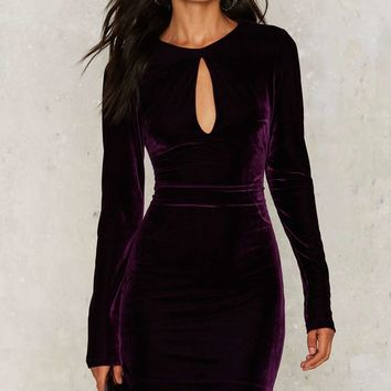 Nasty Gal Key the Change Velvet Dress