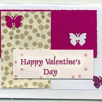 Happy Valentines Day Decoupage Card with Butterflies