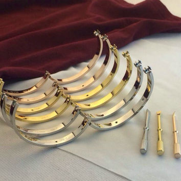 Classical Carter Love Bracelet Bangles Silver 18k Rose Gold Plated Fashion Men Jewelry Cuff Couple Gold Screw Bracelet For Women