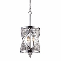 Crystoria 3 Light Pendant In Polished Chrome