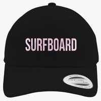 Surfboard Embroidered Cotton Twill Hat