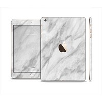 The White Marble Surface Full Body Skin Set for the Apple iPad Mini 3