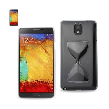 3D Sand Clock Clear Case In Black For Samsung Galaxy Note 3 By Reiko
