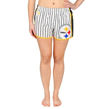 Pittsburgh Steelers Official NFL Womens Pinstripe Shorts
