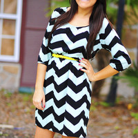 I Mint What I Said Dress: Chevron | Hope's
