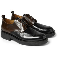 AMI - Two-Tone Polished-Leather Brogues | MR PORTER