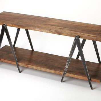 Butler Scissors Iron & Wood Display Console Table
