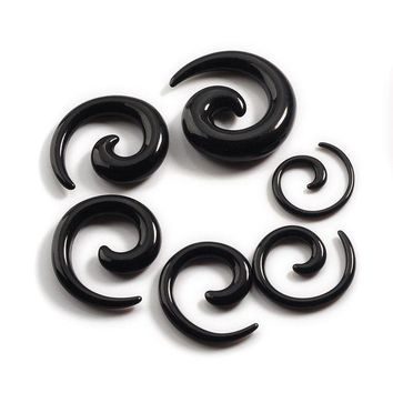 ac ICIKO2Q Piercing Piercing Nombril 12pcs/set Acrylic Spiral Ear Stretching Tapers Body Jewelry Mix Lots Fake Expander Plug Tunnel Kit