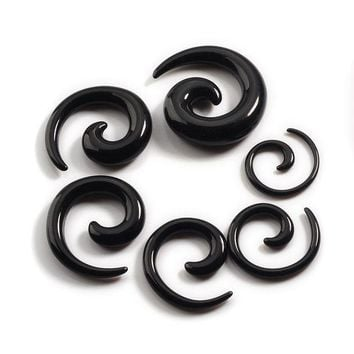 ac PEAPO2Q Piercing Piercing Nombril 12pcs/set Acrylic Spiral Ear Stretching Tapers Body Jewelry Mix Lots Fake Expander Plug Tunnel Kit
