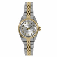 Rolex Ladies 26mm Ladies Datejust Watch - 6917 Model - Stainless Steel & Yellow Gold - Silver Roman Dial - Fluted Bezel - Jubilee Band
