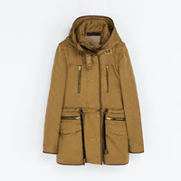 HOODED PARKA WITH DETACHABLE LINING