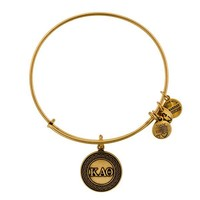Alex and Ani Kappa Alpha Theta Charm Bangle - Russian Gold