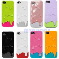 New 3D Melt ice-Cream Melting Skin Hard Case Cover For iPhone 5 5G + Accessories