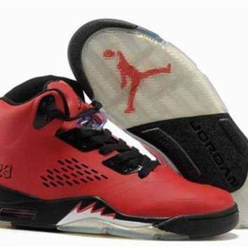 Cheap Air Jordan 5 Retro Men Shoes Red Black