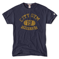 City Gym Graphic Tee in Mast Blue