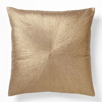 Embroidered Metallic Bull's-Eye Pillow Cover - Rose Gold