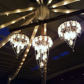 Triple Deluxe Chandelier. FREE SHIPPING