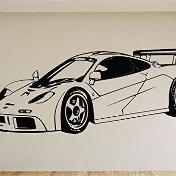 Mclaren Race Car Auto Wall Decal Stickers Murals Boys Room Man Cave