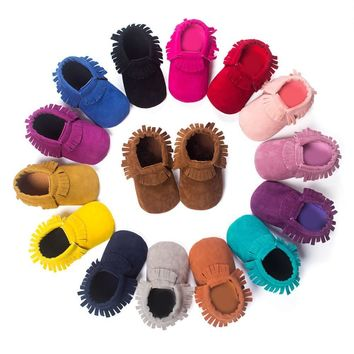 Baby Boys Girls Soft Soled Non-slip Leather Shoes