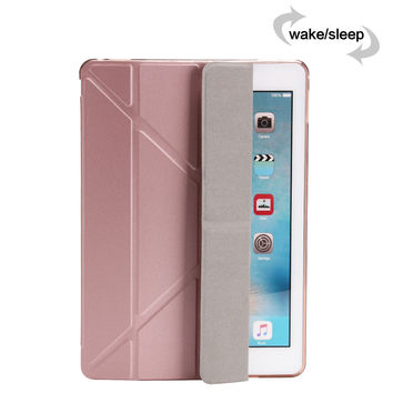 "For IPad Pro 9.7"" Case Stand Soft TPU Silicon Samrt Case Slim PU Leather Cover for Ipad 7 ( Air 3 ) with Auto Sleep/Wake +Stylus"