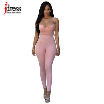 IDress Overalls for Women Bodycon Playsuit Rompers Womens Pants Jumpsuit 2016 Women Summer Bodysuit Rompers Womens Jumpsuit Sexy