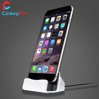 CinkeyPro Charger Dock Smart Phone Desktop Station USB Sync Adapter Mobile Charging Device For Apple iPhone 5 6 6S 7 Plus iPod