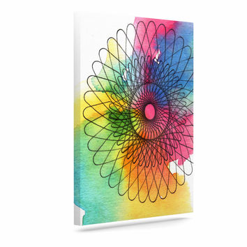 "Sonal Nathwani ""Rainbow Spiro"" Multicolor  Canvas Art"