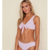 Lilac Tie Knot Bathing Suit Top