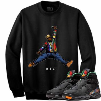 Jordan Retro 8 Tinker Air Raid Crewneck Sweater - BIG JMPMN STWOD