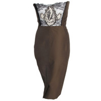 Jean Paul Gaultier Strapless Corset Dress w/Lace & Neoclassical Motif at Back