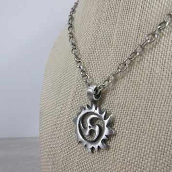 Spiral Necklace, Sun Spiral Pendant, Guy gift