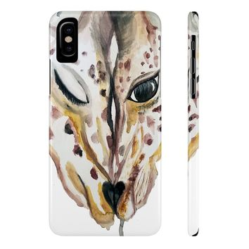 Inseperable Giraffes Case Mate Slim Phone Cases