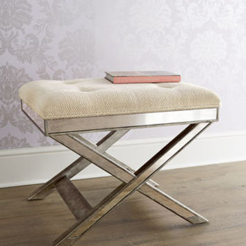 Lila Mirrored X Stool