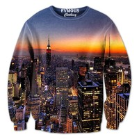 """""""NYC Night Skyline"""" from FVMOUS CLOTHING"""
