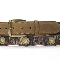 Nocona Mossy Oak Camo Men's Scalloped Shotgun Shell Concho Belt