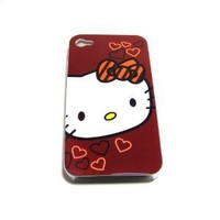 Hello Kitty head Snap On Hard Case Cover for iphone 4 4G
