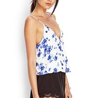Watercolor Floral Surplice Cami