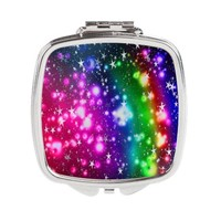 colorful stars Square Compact Mirror