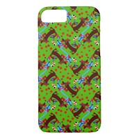 Whirling Dachshunds Design on iPhone 7 Case