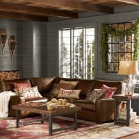 Turner Leather 3-Piece Sectional