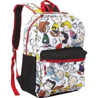 "New 2017 Peanuts Snoopy Snoopy White Allover Print 16"" Girls/Boys Backpack"