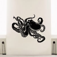 Wall Decal Vinyl Sticker Animal Octopus Sea Ocean Decor Sb407