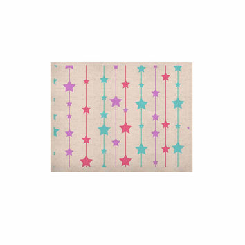 """NL Designs """"Pastel Stars"""" Pastel Pattern KESS Naturals Canvas (Frame not Included)"""