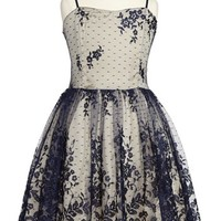 Un Deux Trois Lace Overlay Dress (Big Girls)