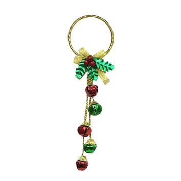 Jingle Bells Small Christmas Crafts Tree Door Wall Hanging Ornament Party Home Decor Festival Supplies enfeites natal