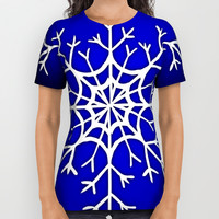 Snow flake All Over Print Shirt by Jessica Ivy