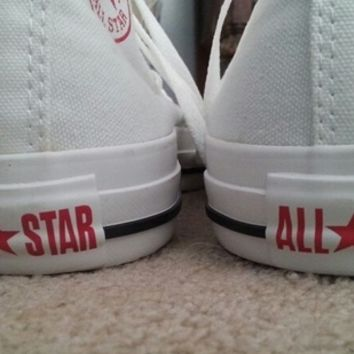 White High Top I Heart Blank Converse