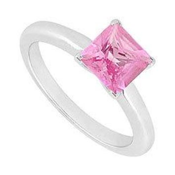 Pink Topaz Ring : 14K White Gold - 0.75 CT TGW